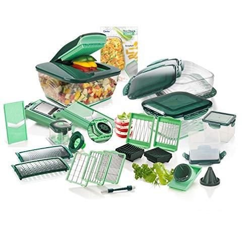 Genius Nicer Dicer Chef | Deluxe-Set | 34 Teile | Obst- & Gemüseschneider | Allesschneider | würfeln | zerkleiners