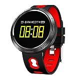 Hanbaili Tracker di fitness Monitoraggio della frequenza cardiaca / Pressione sanguigna / Sonno IP68...