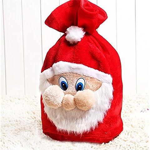 YUYU Bolsa de regalo de Nochebuena Santa mochila franela 35 * 47cm , 35*47cm