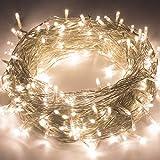 Quntis 500 LEDs 100m Lichterkette, Weihnachtsdeko Strombetrieb mit 8 Modi & Memoryfunktion für Außen und Innen, wasserdicht, Beleuchtung für Xmas,Hochzeit, Geburtstag, Party, Garten