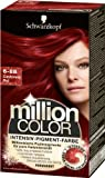 Schwarzkopf Million Color Intensiv-Pigment-Farbe 6-888 Cashmere Rot Stufe 3, 1er Pack (1 x 126 ml)