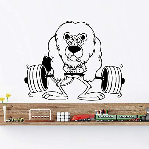 zqyjhkou Neuheiten Cartoon Wandtattoo Lion Sport Tier Kinderzimmer Vinyl Wandaufkleber Kinder Schlafzimmer Dekor Home Art Poster Wandbild La681 70x56 cm