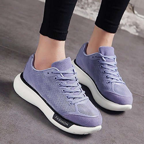 SONGYUNYANInstitut féminin de loisirs coréen vent plate-forme dentelle mode chaussure Purple