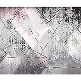 decomonkey Fototapete Textur Geometrich 400x280 cm XL Tapete Fototapeten Vlies Tapeten Vliestapete Wandtapete moderne Wandbild Wand Schlafzimmer Wohnzimmer Beton 3d effekt rosa weiß grau schwarz