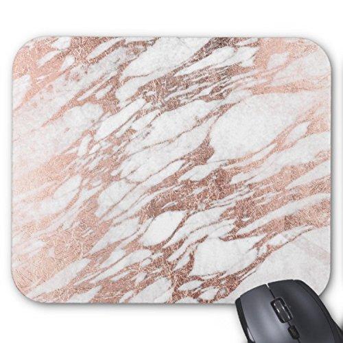 sunshine-mouse-chic-elegante-bianco-e-rose-gold-marmo-modello-mouse-pad-rettangolo-gomma-antiscivolo