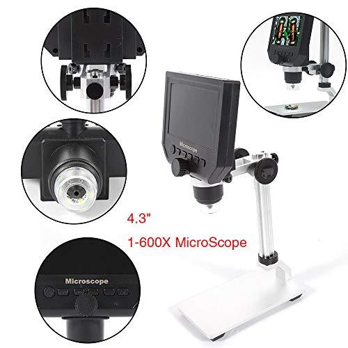4.3 inch Digital Elektronisch Mikroskop LCD Display Digital LED Continuous Magnifier HD 3.6MP Microscope 600X Vergrößerung Lupe