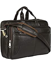 Thames Faux Leather 15.6 Laptop Messenger BagSling BagLapt