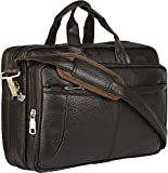 Thames by Lioncrown Faux Leather 15.6 Laptop Messenger Bag/Sling Bag/Laptop Briefcase (Brown)