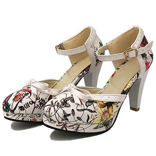 COOLCEPT Damen Bogen Sandalen Hohe Irregular Blumen Schuhe Size 0-11 396 Yellow