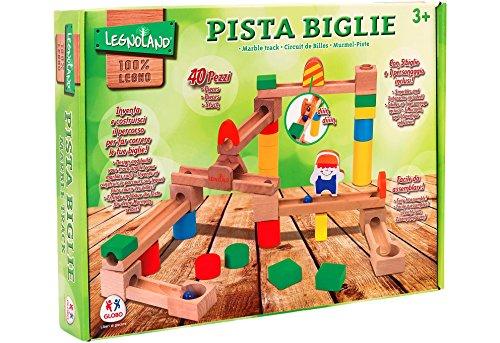 (Globo Toys 96.304,1cm legnoland Marmor Holz Track (40))