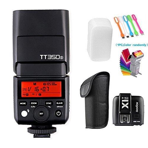 Godox TT350S 2,4G HSS 1/8000s TTL GN36Wireless Speedlite Flash Light mit x1t-s Flash Trigger Transmitter für Sony Mirrorless Digital Kamera (TTL autoflash) A7A7R A7S A7II A7R II A7S II A6300A6000 -