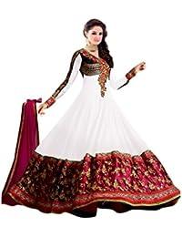 Florence Women's Georgette Anarkali Salwar Suit Set (SB-2512-Reupload_White_One Size)