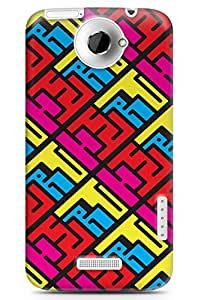 GeekCases 50 Shades of Pink Back Case for HTC One X