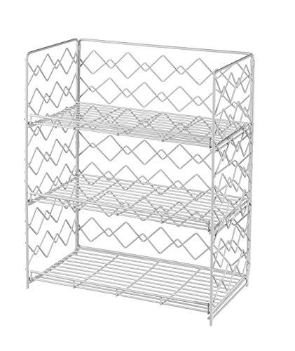 NEUN WELTEN Gewürzregal Breites Küche Hängeregal Oder Standregal 34 x 19 x 42cm (Weiß, 3 Etagen)