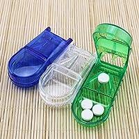 Portable Mini Plastic Medicine Pill Compartment Box Case Storage Tablet Cutter Convenient Clear Storage Box Pill... preisvergleich bei billige-tabletten.eu