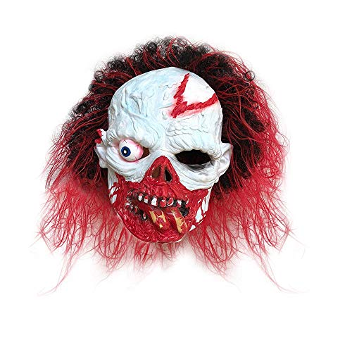 Fulltime® Party Halloween Kostüm Horror Maske Surreal Vollkopf Latex Maskerade Requisiten (Rot)