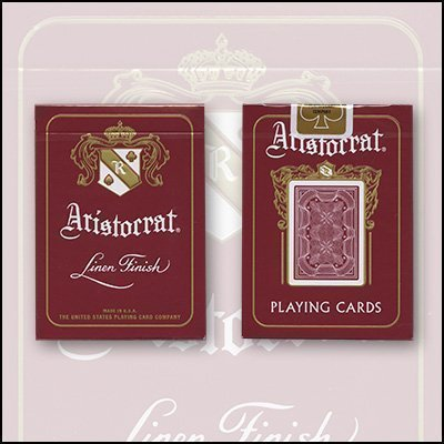 Bicycle Aristocrat 727 Bank Note Cards - Red by United States Playing Card Company (States Bank United)