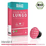 Gourmesso SFCC House Blend Lungo Dark - 50 Nespresso kompatible Kaffeekapseln - Bio