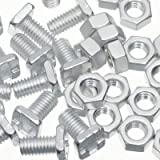 100 High Tensile Aluminium Greenhouse Nuts & Bolts Genuine Greenhouse Warehouse Parts