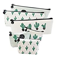 URGrace 6 Packs Pencil Case New Style Cactus Pastoral Bandage Canvas Pencil Case Box Makeup Bag