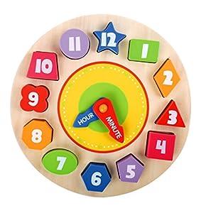 Beehive Toys Rompecabezas de Madera con Forma de Reloj, números de Reloj y Formas