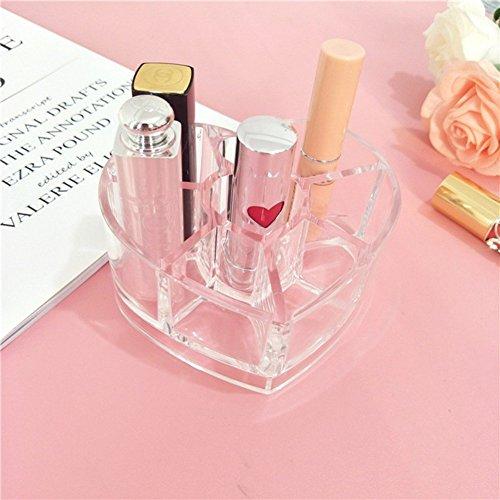 Allbesta Lippenstifte Lipgloss Halterung Aufbewahrung Herz Form Acryl Make-up Wimperntusche Eyeliner...