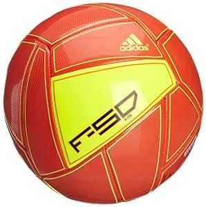 Adidas ballon de football f 50 x-ite 5 Orange - Motif High Energy S12/rouge/noir