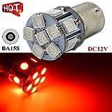 Ruiandsion 1156 LED Lampe 5050 12SMD Chipsätze Rote Auto Lampe Automotive Birne 12 V Ersatzlampe für Rücklicht Blinker Rücklicht (2 Stück)
