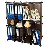 SoBuy® DIY Regal, Bücherregal, Büroregal,Büroschrank,Steckregalsystem, FSS14