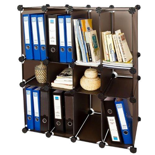 SoBuy DIY Regal, Bücherregal, Büroregal,Büroschrank,Steckregalsystem, FSS14