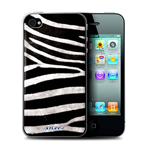 Stuff4® Hülle/Hülle für Apple iPhone 4/4S / Zebra Muster/Tierpelz Muster Kollektion - Iphone 4-zebra