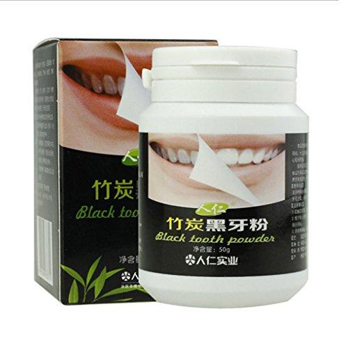 LCLrute Hohe Qualität Natürliches organisches Aktivkohle-Pulver Teeth Whitening Total Whites (Schwarz)