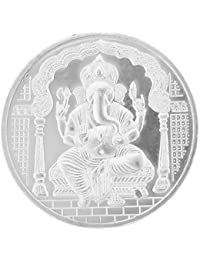 Ananth Jewels BIS Hallmarked 999 Purity Silver Coin Ganpati Ganesha and Om 5 grams
