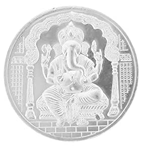 Ananth Jewels BIS HALLMARKED 999 purity Silver Coin Ganpati Ganesha and Om 2.5 grams Pack of 2 ( Total 5 Grams )