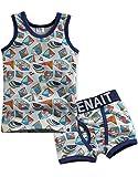Vaenait Baby 9 Farben 86-122 Kinder Jungen 2 Teilen Unterwaesche Unterhemd Boxer Brief Set
