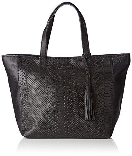 Loxwood  Parisien Mm Croco Print, Damen Tote-Tasche , Schwarz - Schwarz - Schwarz (Black) - Größe: Taille M (Print Fashion Croco Handtasche)