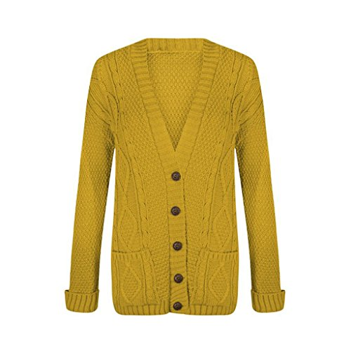 Cardigan - Gilet - Femme Small moutarde