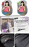Globitec MommyPro Auto Sicherheitsgurt Adapter für Schwangere Frauen, Schwangerschaftsgurt fürs Auto, größenverstellbar