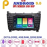 ANDROID 9.0 GPS DVD USB SD WI-FI Bluetooth autoradio 2 DIN navigatore Mercedes classe C W203/ C220/ C230/ C240/ C280 Mercedes classe CLK W209/ CLK200/ CLK220/ CLK 240 Mercedes classe CLC W203/ W467/ A209/ W219