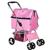 Yarmy Haustier-Kinderwagentasche für Katzen, zusammenklappbar, waschbar, hochwertig, EIN weiteres Zuhause für Haustiere