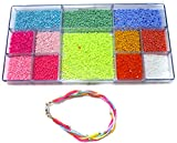 #7: Beadsnfashion Jewellery Making Seed Beads Neon & Opaque DIY Kit (12 Colors)