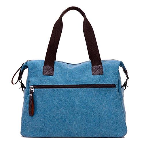 LAIDAYE Segeltuchhandtaschen Große Beutel Große Kapazitätspaketart Und Weiseschulterbeutel Beiläufige Damehandtasche Kurierbeutel 2