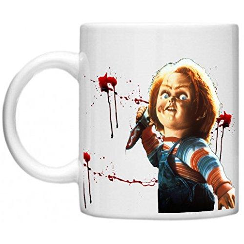 Retro, klassischer Filme, gute Guy Motiv Matrjoschka, Chucky, Design Play Stützräder für Spülmaschine und Mikrowelle 11oz Tasse Becher Cup (Chucky-dvd-set)