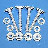 4 tornillos inodoro A21 con tuercas y arandelas/estabilizadores para la mayoría de asientos de inodoro