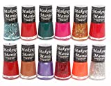Makeup Mania Bold and Beautiful Combo of 12 Nail Polish Enamels - Green, Pink, Red, Orange, Glitter in Silver Golden, Nude Shade & many more (Multicolor Set # 76)