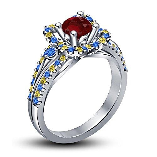 Vorra Fashion Damen -  925 Sterling-Silber  Sterling-Silber 925     Verschiedene Edelsteine  (Belle-schmuck Disney Princess)