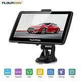 FLOUREON Navigationsgerät LCD Touchscreen GPS Navigation NAV Navigator freie EU UK Maps Auto Car Taxi, Schwarz