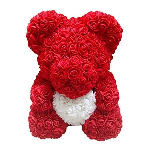 iBaste Ours Rose Jouet Filles Fleur Ours En Peluche Pour Anniversaire Valentine Mariage Poupée Fête Cadeau Saint Valentin Présent