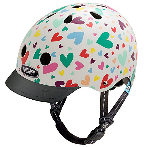 Nutcase Kinder Little Nutty - Happy Hearts Helm, Mehrfarbig