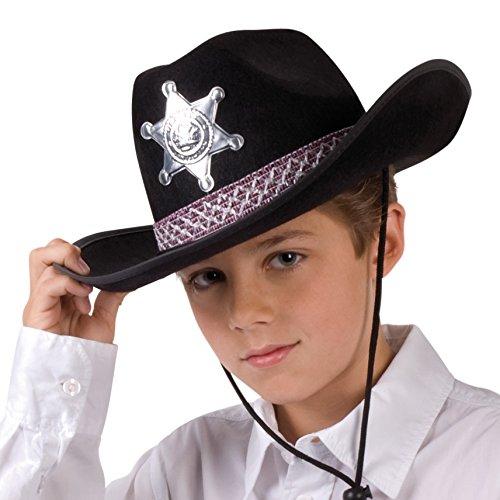 Cowboyhut Junior, schwarz